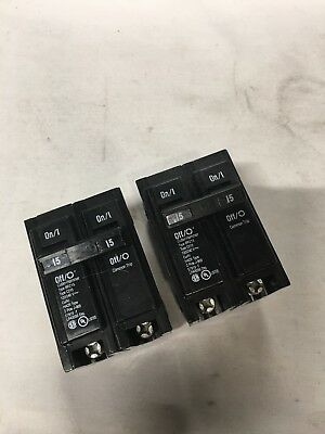 Lot Of 2 NEW Eaton BR215 Circuit Breaker 2 pole 15 amp 240 volt