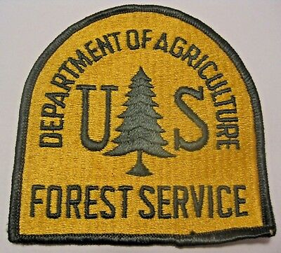 Nos Vintage Un Sewn Department Of Agriculture Forest Service Cloth Patch