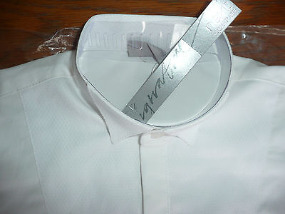 BNWT 'Next' Boys Formal White Wing Collar Shirt/ Age 8/ Wedding/ Special Occasio