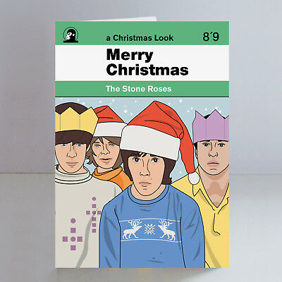 The Stone Roses Ltd Edition A5 Christmas Card Indie Madchester Ian Brown