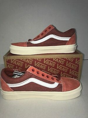 ca101e3f8e3 NWT NIB Vans Old Skool Washed Red Suede for J.Crew Mens size 5 Skate