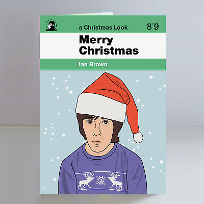 Ian Brown Ltd Edition A5 Christmas Card Psych Madchester The Stone Roses