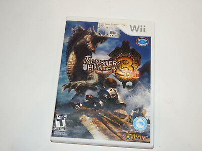 Monster Hunter 3 Tri (Nintendo Wii, 2010) Complete WITH MANUAL