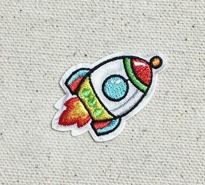 Space - Rocket Ship Outerspace/Rocketship  - Iron on Applique/Embroidered Patch
