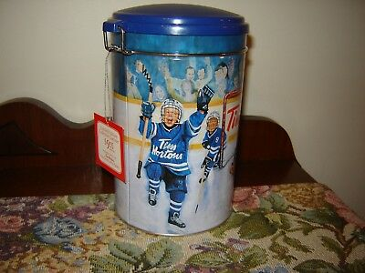 Tim Hortons Limited Edition Collectable Canister 002 Winning Goal w/ Tag