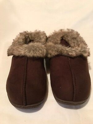 New Womens Avon Indoor//Outdoor Memory Foam Cable Knit Boot Brown 197LM dr