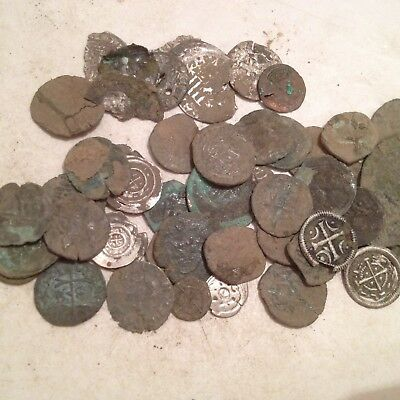 lot 50 anciente coins -  middle age  - bronze - silver