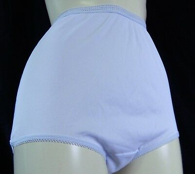9011f9708362 Vintage Sears Full Cut Panties,Pillow tab, acetate polyester light blue, size  6