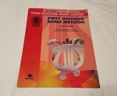 Flute First Division Band Method Book Part One Music