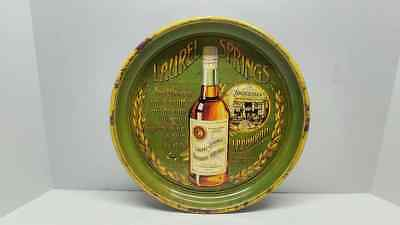 Rare Vintage Laurel Springs Bourbon Whiskey J.F. Conrad Liquor Metal Tray L@@K!