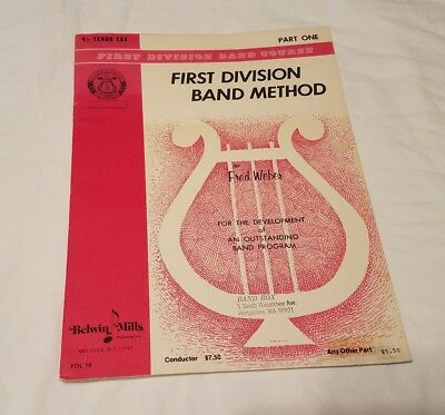 Tenor Saxophone First Division Band Method  Book Part One Music