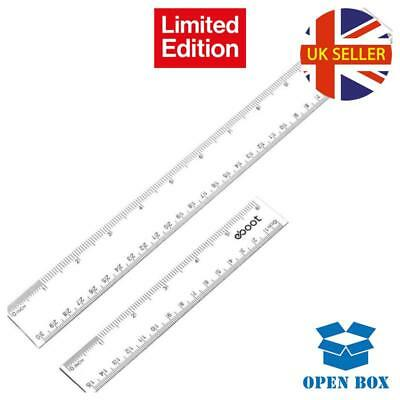 Plastic Ruler Straight Ruler Plastic Measuring Tool 12 Inches and 6 Inches, Clea