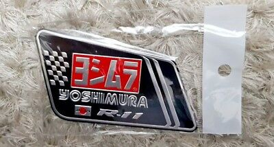 YOSHIMURA R11 MOTORBIKE EXHAUST HEATPROOF DECAL/ VINYL/STICKER (89mm x 56mm)