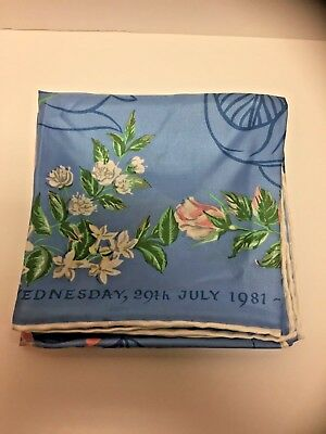 Charles and Diana Vintage Liberty of London Silk Scarf