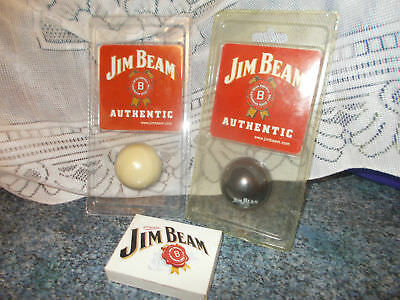 Jim Beam 2-Golf Balls 1-Playing Cards For Bar Or Man's Cave