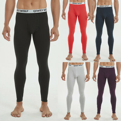 Winter Pants Men Thermal Warm Long Johns Leggings Underwear Baselayer Bottoms