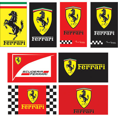 FERRARI YELLOW SPORTS CAR FLAG 3x5ft /90x150cm 2-Grommets Combination Polyester