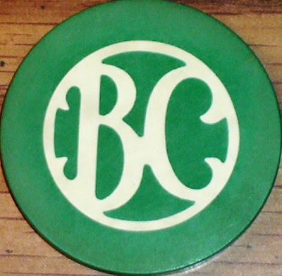 Old BILTMORE CLUB Illegal Casino Poker Chip Vintage Antique C&S Mold St Louis MO