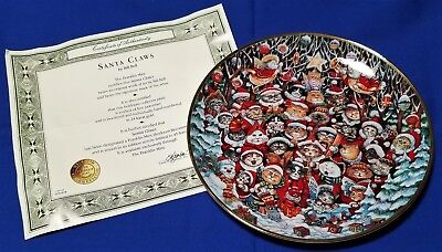 Franklin Mint Cat Collectior Plate - Bill Bell - Santa Claws NEW in packaging