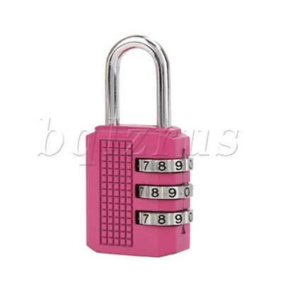 S853# Resettable mini 3 Digit Combination Travel drawer Code Lock Safety Padlock