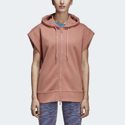 Details about adidas by Stella McCartney Yoga Comfort Striped Quarter Zip Hoodie Size S