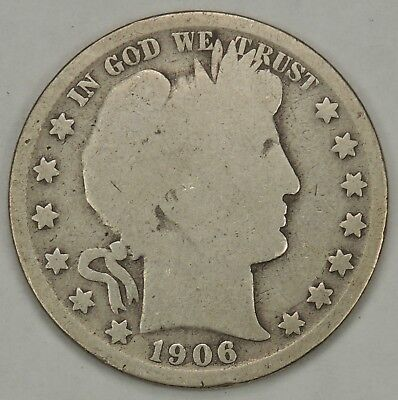 1906-O 50C Barber Silver Half Dollar AS PICTURED - FREE SHIPPING!!    (110418)