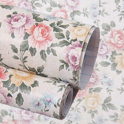 Self Adhesive Table Drawer Shelf Liner Wallpaper Vinyl Contact Paper Roll Decor