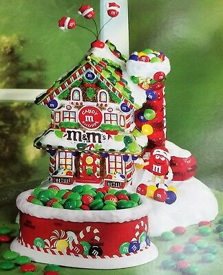 M&M Department 56 Christmas Candy Shoppe Lighted House & Candy Dish NIB