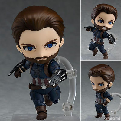 Anime Nendoroid 923 The Avengers Captain America Action Figure New In Box 10cm