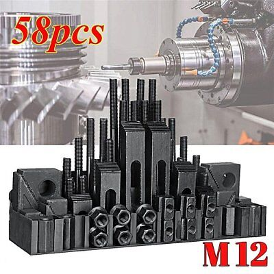 M12 1/2-13 58Pcs 5/8 T-Slot Steel Clamping Kit Bridgeport Milling Machine Set OY