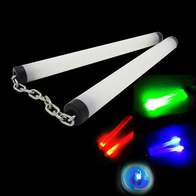 LED Lamp Light Nunchucks Glowing Stick Practice Performance Kung Fu Tool  Deluxe