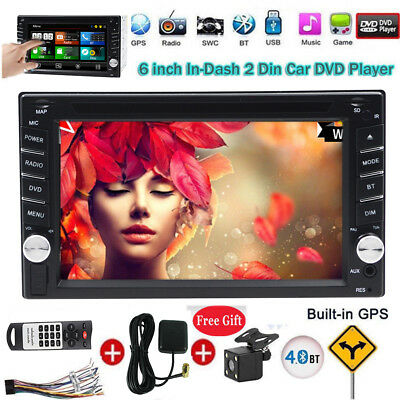 Double 2 Din 6.2'' HD Touch Screen Car Stereo Radio DVD Player GPS Navigation BT