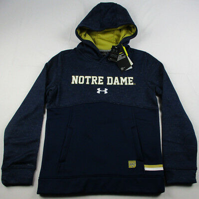 Notre Dame Fighting Irish Under Armour Storm Sideline Fleece Hoodie Youth  MD NWT 7f766b48b