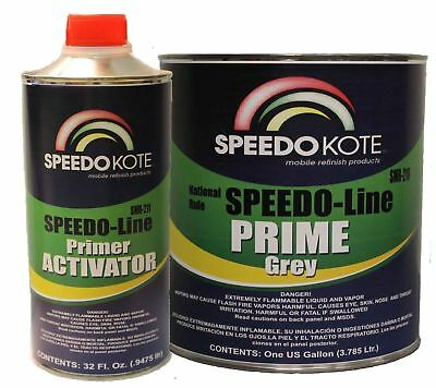 Automotive High Build 2K Urethane Primer Gray Gallon Kit, Fast Dry, SMR-210/211