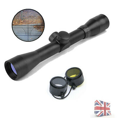 New Hunting 4x32 Gold Telescopic Sight Scope w/ Rail Mounts For Airsoft Pistol