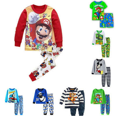 Kid Toddler Cartoon Pyjamas Set Boys Girl Sleepwear Outfits 2PCS Pj's Clothes AU