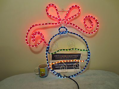 Very Pretty 24 Inch Outdoor Christmas Bauble Display Light With Hanging Loop