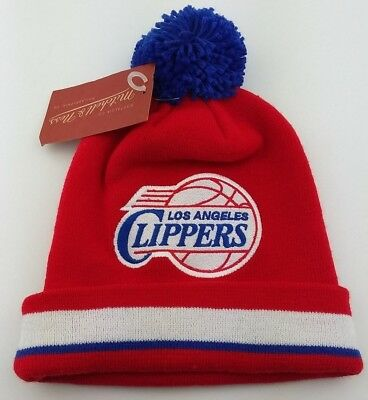 Los Angeles Clippers Cuffed Knit Pom Beanie/NBA/Winter Hat/Mitchell & Ness