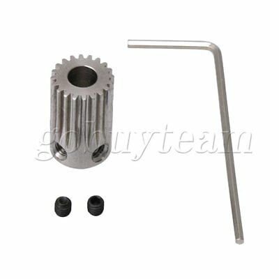 0.5 Mold 5mm Hole 20Teeth Stainless Steel Gear Wheel with Wrench & Screw