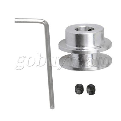 Aluminum Alloy Single Step V-Shape Pulley of 22mm Dia 15mm Height DIY
