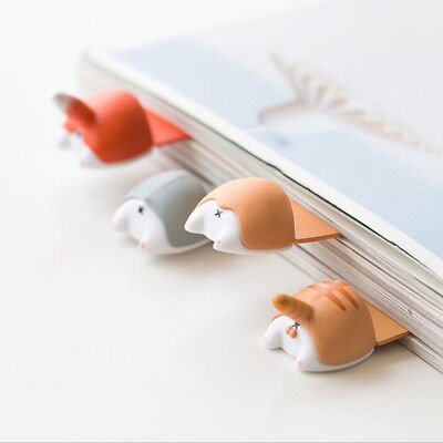 Lovely Cartoon Dog Cat Hamster Fox Ass Bookmarks Novelty Book Reading Gift Hot
