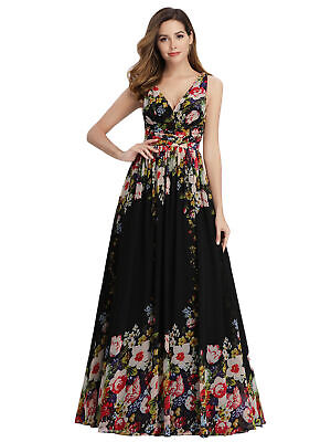 756042f542b2 Ever-Pretty US Long Cocktail Party Dresses Floral Formal Maxi Evening Gown  09016