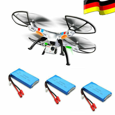 3 Akkus SYMA X8G RC Drohne XXL 8MP 1080P HD Kamera Headless Quadrocopter Drone