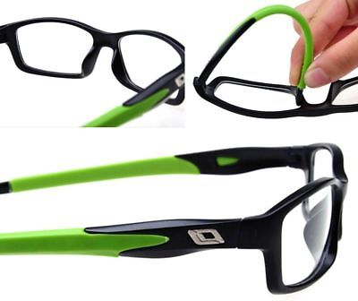 Classic Silicone Eyeglasses Frames Sport Optical Glasses Patchwork Red Pattern