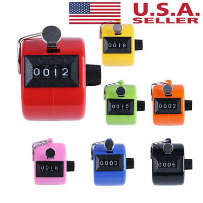 4Digit Counting Manual Hand Tally Number Counter Mechanical Click Clicker Useful