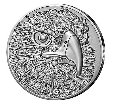 Niue 1$ Silber 2019 HR Wedge Tailed Eagle 1oz 999er Silber Antique Finish