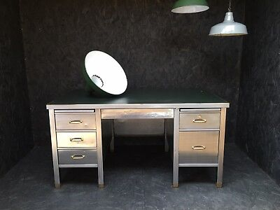 Vintage Industrial Stripped Metal Tanker Desk #roughluxe