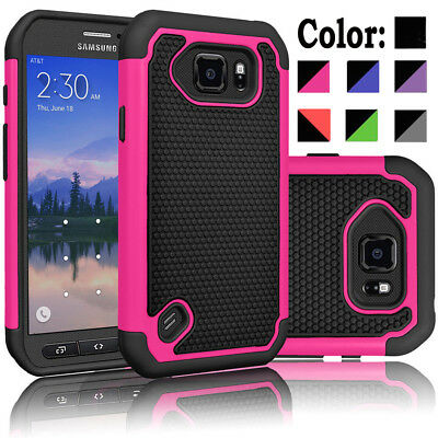 For Samsung Galaxy S6 Active Phone Case Cover + Tempered Glass Screen Protector