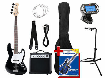 Guitare Basse Electronique Bass Set Amplificateur Housse Support Corde Cable