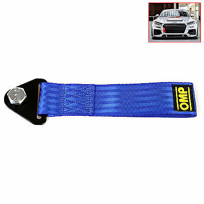 Blue Sports High Strength Racing Tow Strap Set for Front Rear Bumper Towing Hook